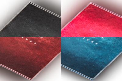 visitekaartjes gekleurde kern